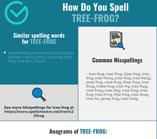 Correct spelling for tree-frog