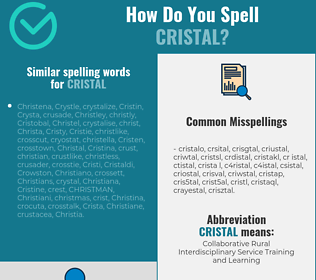 Correct spelling for cristal