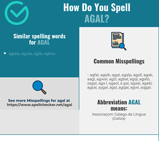 Correct spelling for agal