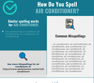 Correct spelling for air conditioner