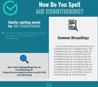 Correct spelling for air conditioning