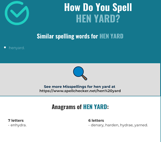 Correct spelling for hen yard