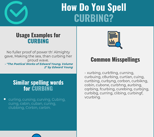 Correct spelling for curbing