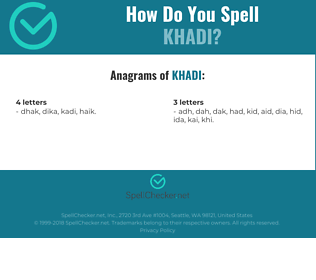 Correct spelling for khadi