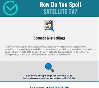 Correct spelling for satellite TV