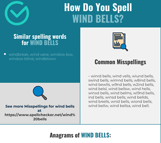 Correct spelling for wind bells