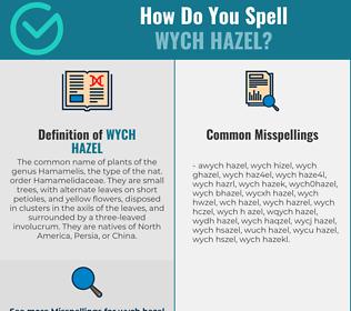 Correct spelling for wych hazel
