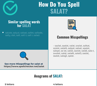 Correct spelling for salat