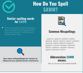Correct spelling for sawm