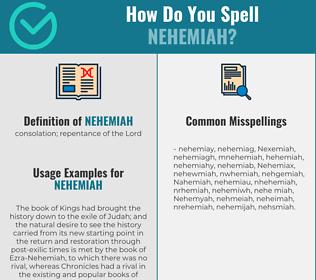 Correct spelling for Nehemiah