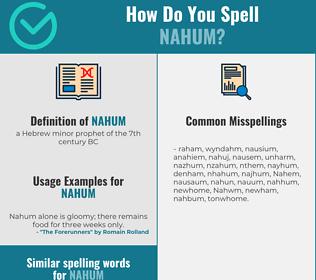 Correct spelling for Nahum