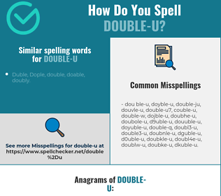 Correct spelling for double-u