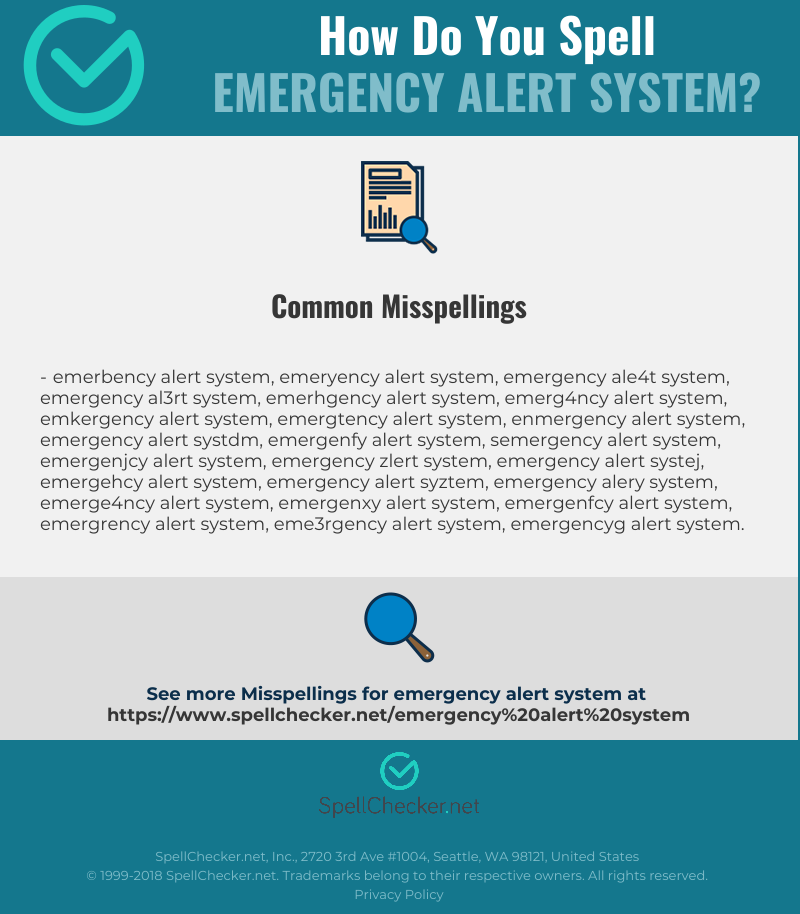 Correct spelling for Emergency Alert System [Infographic
