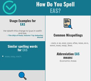 Correct spelling for EAS