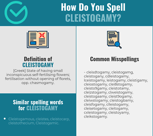 Correct spelling for cleistogamy