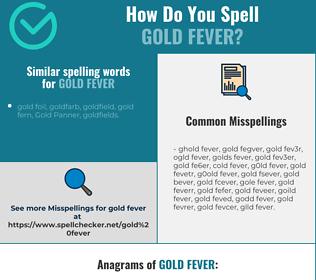 Correct spelling for gold fever