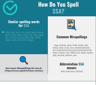 Correct spelling for SSA
