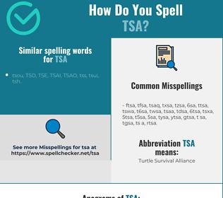 Correct spelling for TSA