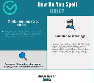 Correct spelling for DoJC