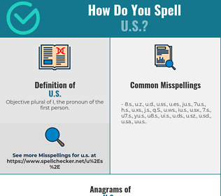 Correct spelling for U.S.