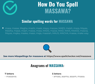 Correct spelling for Massawa