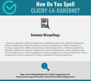 Correct spelling for Clichy-la-Garenne