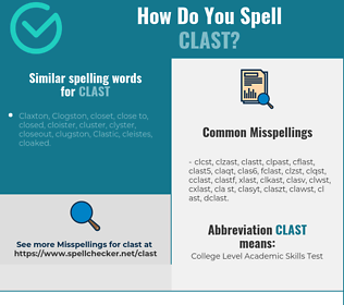 Correct spelling for clast