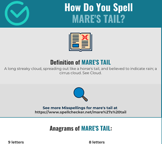 Correct spelling for mare's tail