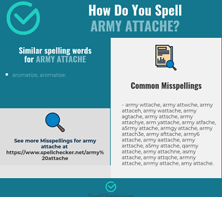 Correct spelling for army attache