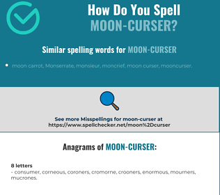 Correct spelling for moon-curser