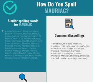 Correct spelling for Mauriac