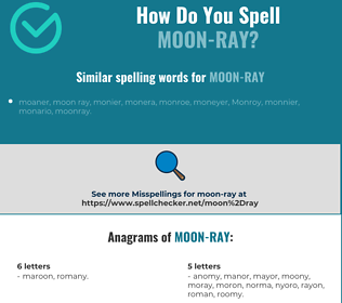 Correct spelling for moon-ray