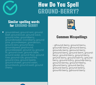 Correct spelling for ground-berry
