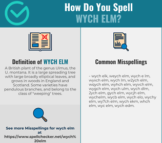 Correct spelling for wych elm