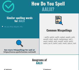 Correct spelling for aalii