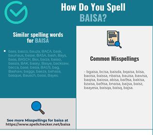Correct spelling for baisa