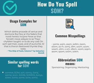 Correct spelling for som