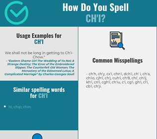 Correct spelling for ch'i