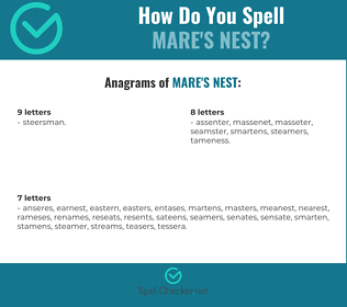 Correct spelling for mare's nest