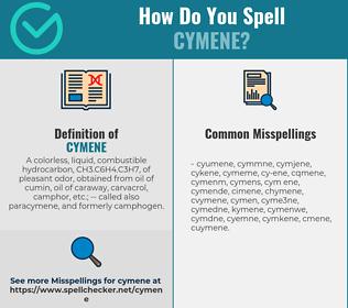 Correct spelling for cymene