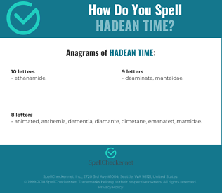 Correct spelling for Hadean time