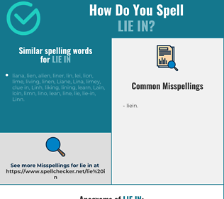 Correct spelling for lie in