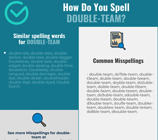 Correct spelling for double-team