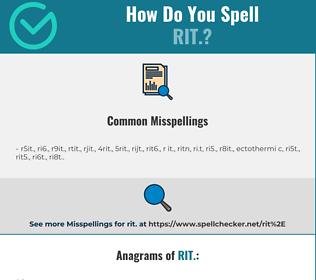 Correct spelling for rit.