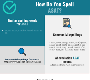 Correct spelling for asat