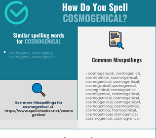 Correct spelling for cosmogenical