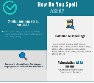 Correct spelling for asea