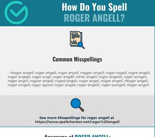 Correct spelling for Roger Angell
