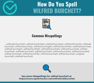Correct spelling for Wilfred Burchett