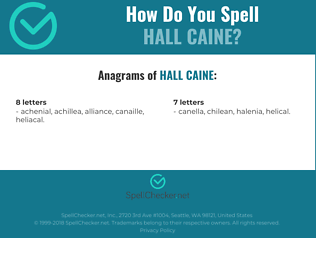 Correct spelling for Hall Caine